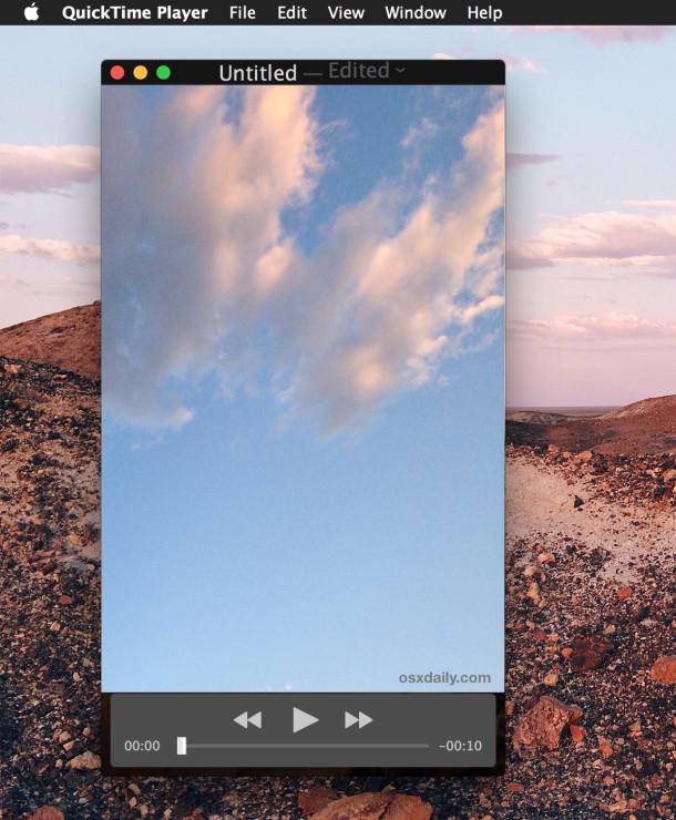 Come ruotare o capovolgere un video in Quicktime per Mac OS X