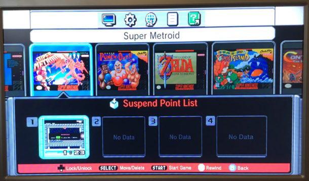 Come salvare un gioco da qualsiasi posizione su SNES Classic