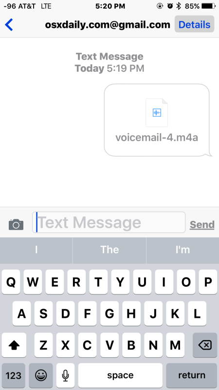 Una segreteria telefonica condivisa tramite iMessage da iPhone