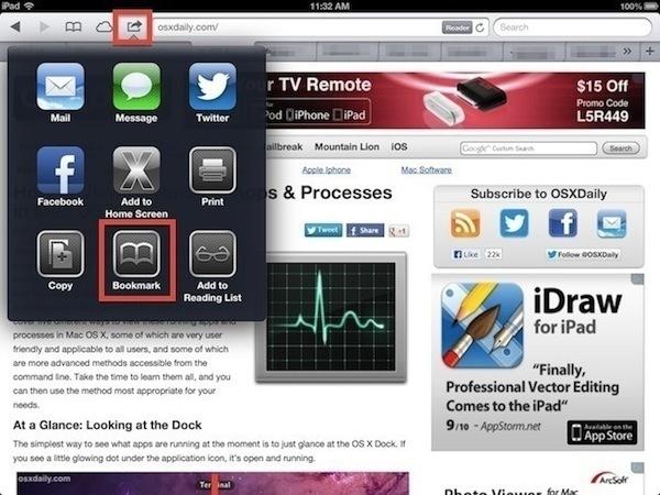 Converti una pagina web in PDF in iOS Safari utilizzando un bookmarklet