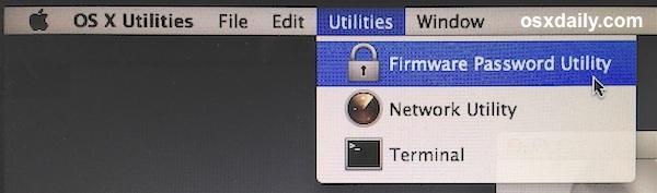 Utilità password firmware