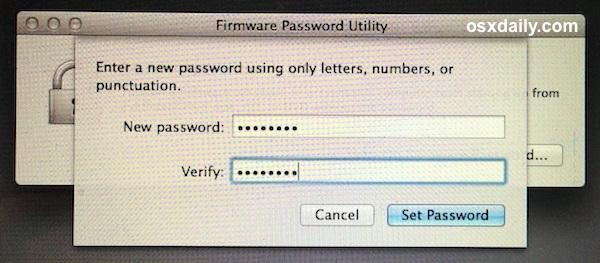 Imposta una password del firmware