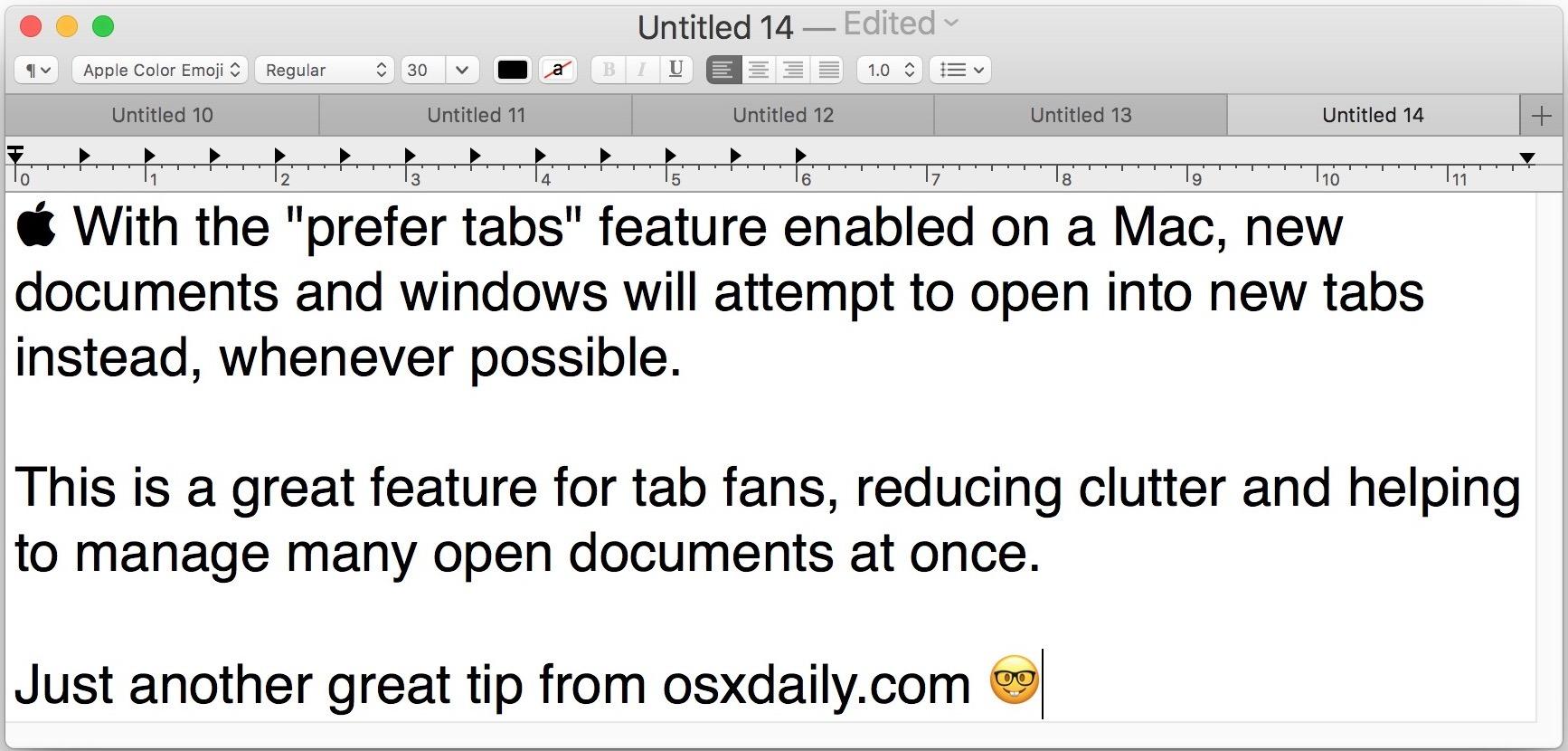 Imposta app per preferire schede su Mac