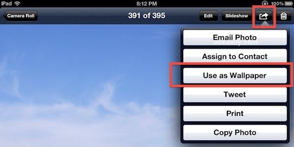 Come cambiare lo sfondo su ipad