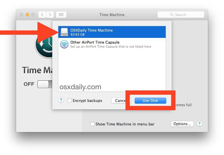 Scelta del disco di destinazione per i backup di Time Machine per il backup su Mac