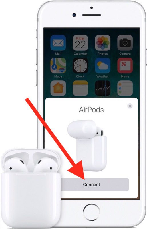 Collegati ad AirPods su iPhone per configurare il dispositivo