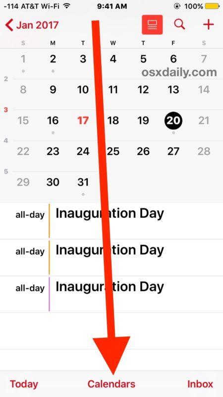 Condividi il calendario con altri da iPhone, iPad