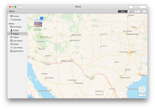 Visualizzazione di immagini georeferenziate su una mappa in Mac OS