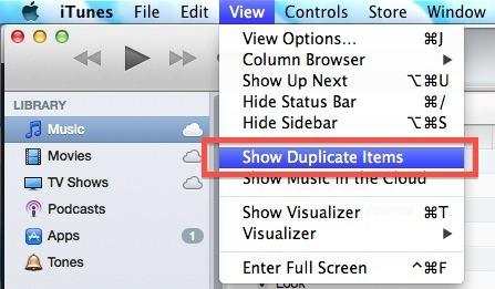 Mostra brani duplicati in iTunes 11