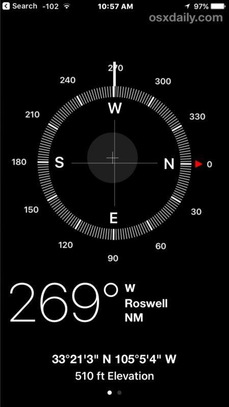Vedere e ottenere le coordinate GPS su iPhone