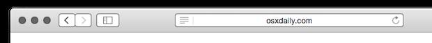 URL incompleto mostrato in Safari per Mac OS X