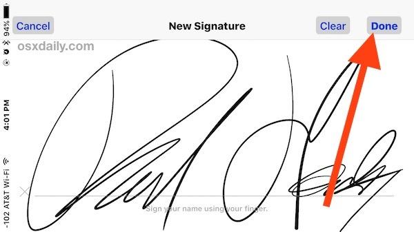 Firma un documento su iPhone