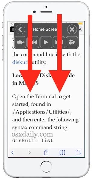 Attiva Speak Screen con un gesto in iOS
