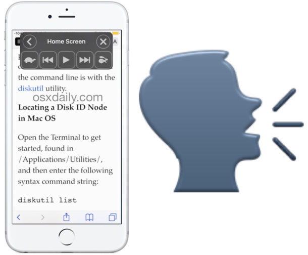 Parla schermo su iPhone e iPad