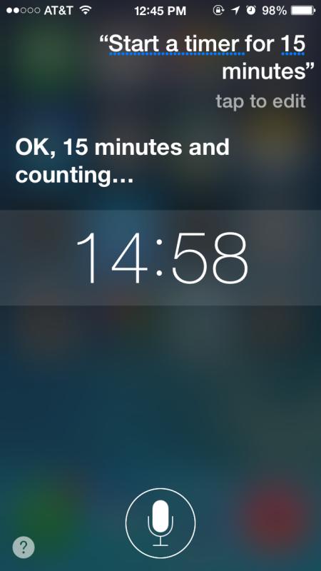 Avvia un timer su iPhone / iPad con Siri