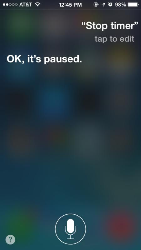 Ferma un timer con Siri su iPhone