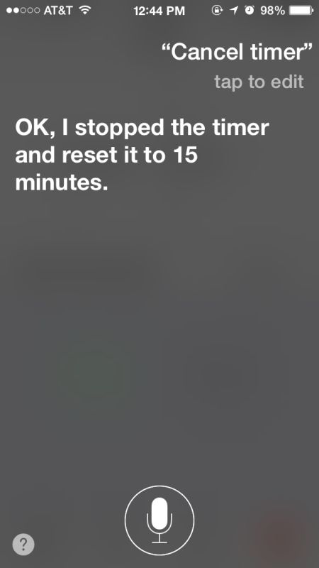 Annulla un timer con Siri