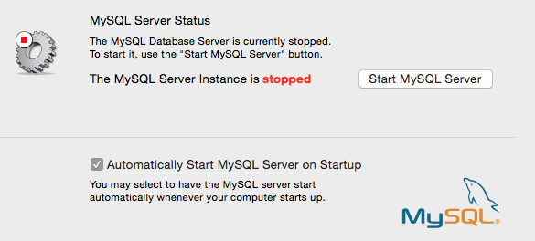 MySQL Start e Stop server in Mac OS X