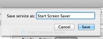 Salva Screen Saver come servizio per un tasto