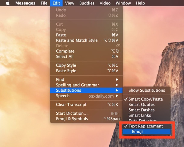 Attiva o disattiva la sostituzione automatica di Emoji in Messaggi per Mac