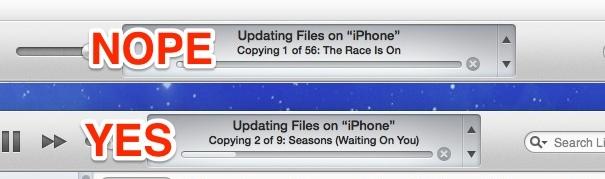 La musica indesiderata si adatta automaticamente a iOS da iTunes