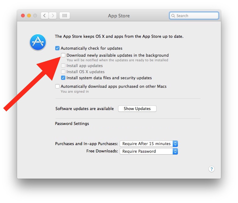 Impedisci a macOS Sierra di scaricare automaticamente