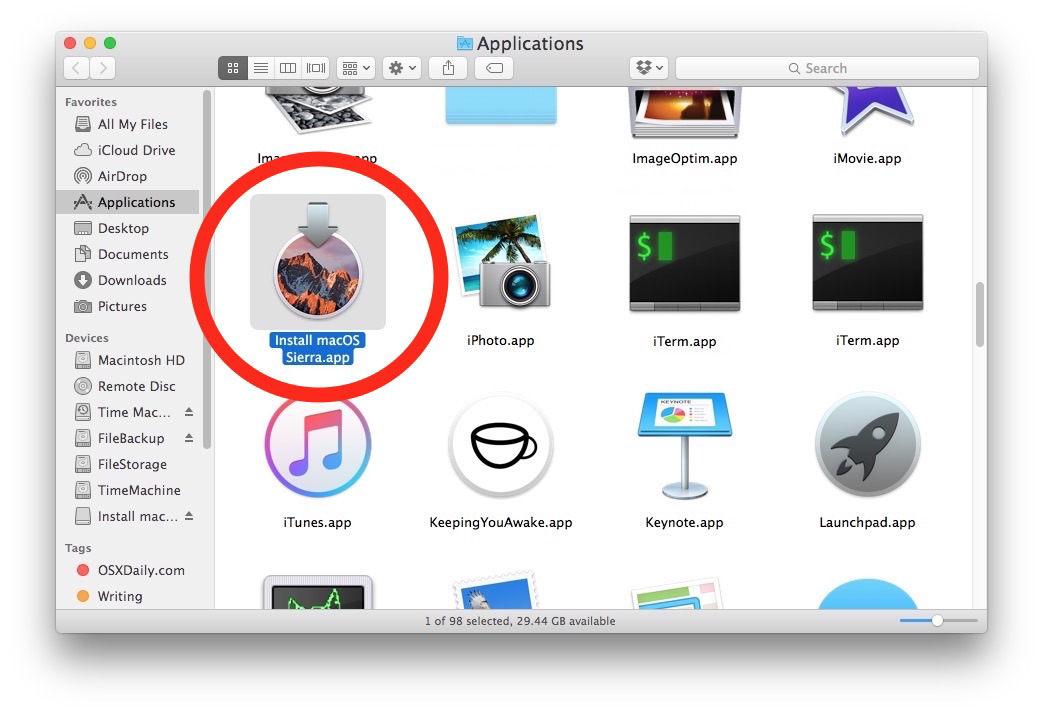 Sierra scaricato automaticamente su Mac