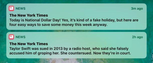 Nascondi gli avvisi di ultime notizie dallo schermo di iOS