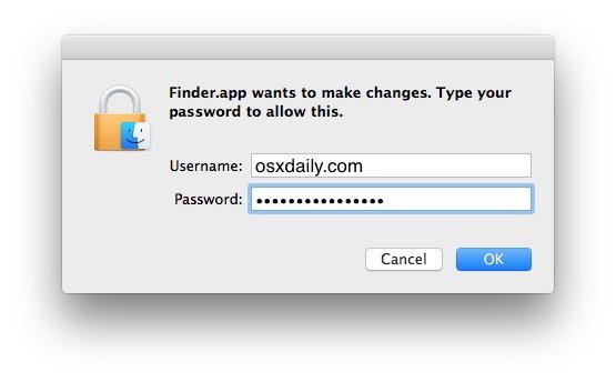 Autentica e sposta il file in Stop Upgrade alle notifiche macOS High Sierra