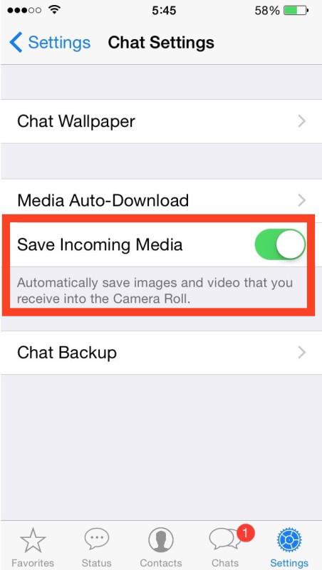 Ferma WhatsApp salvando immagini e video su iPhone
