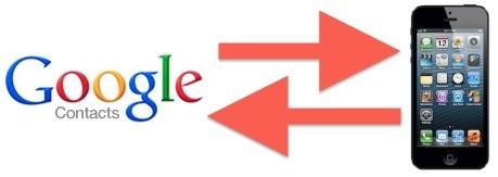 Contatti Google in sincronizzazione con iOS su iPhone, iPad, iPod touch