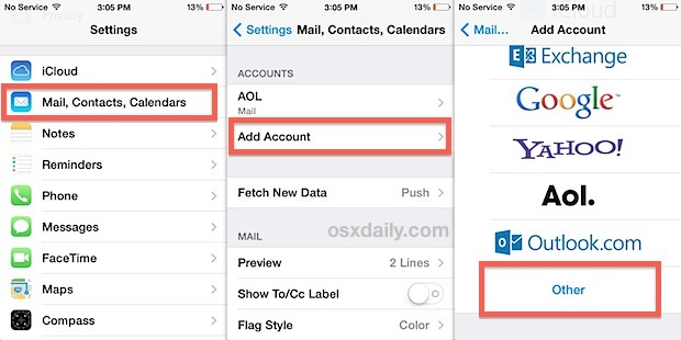 Configura i contatti Google per la sincronizzazione con iOS