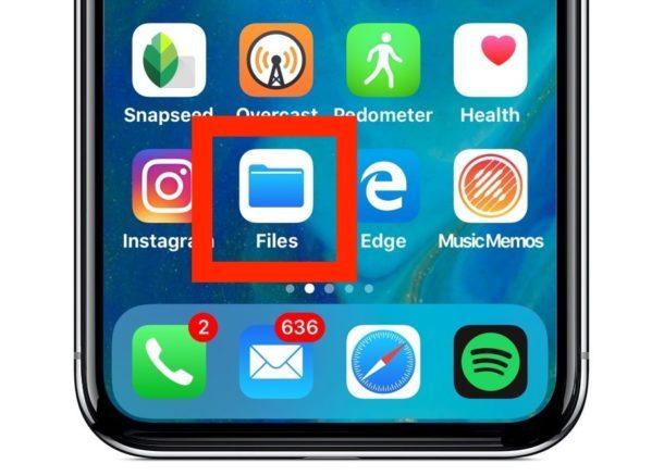 Apri l'app File