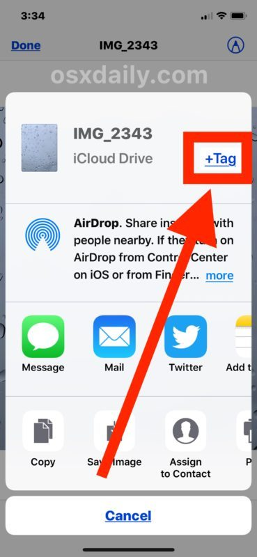 Come taggare un file in iOS