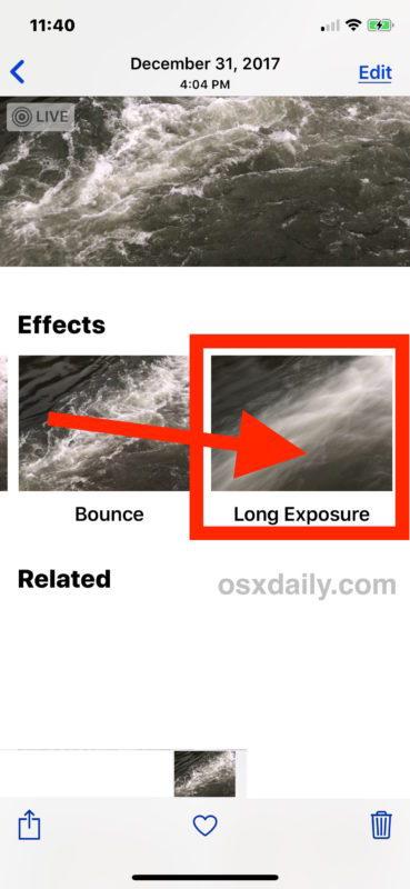 Come utilizzare le foto di Long Exposure su iPhone e iPad