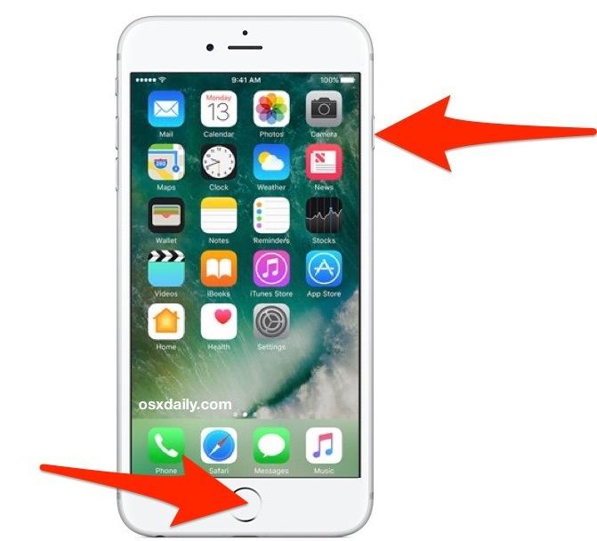 Fai uno screenshot su iOS 10