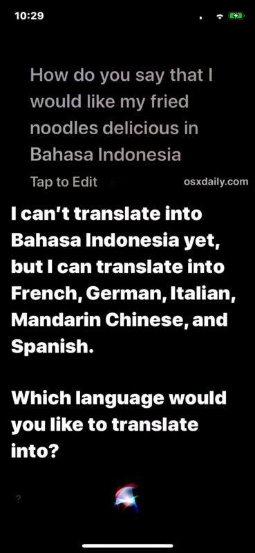 Tradurre le lingue con Siri funziona già per alcune ma non per tutte le principali lingue