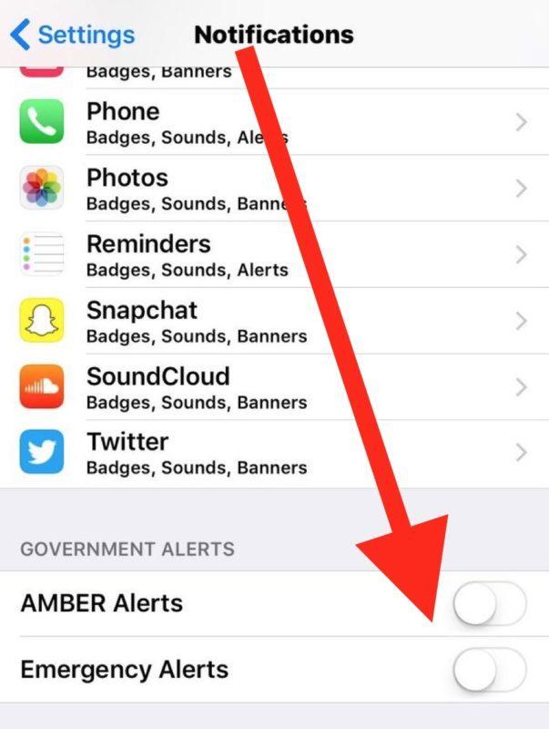 Come disattivare gli avvisi di emergenza su iPhone