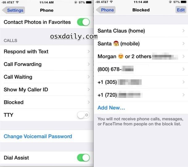 Come sbloccare un chiamante su iPhone, parte 1