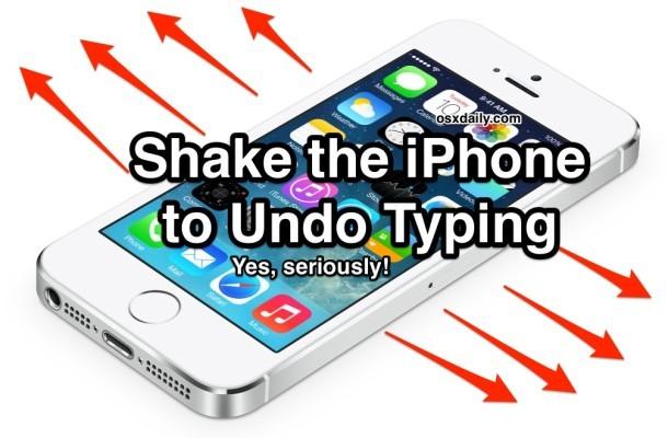 Annulla la digitazione con una vibrazione sull'iPhone