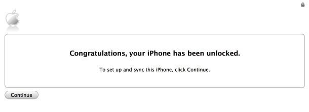 iPhone sbloccato con successo