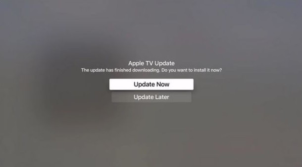Aggiornamento del software di sistema di Apple TV