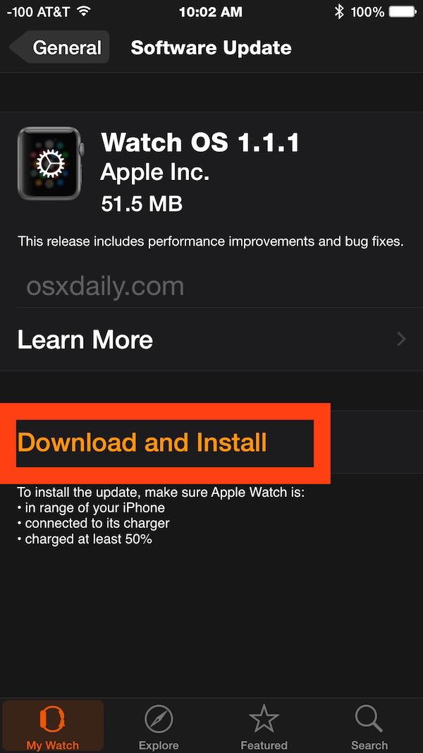 Come aggiornare il sistema operativo Apple Watch