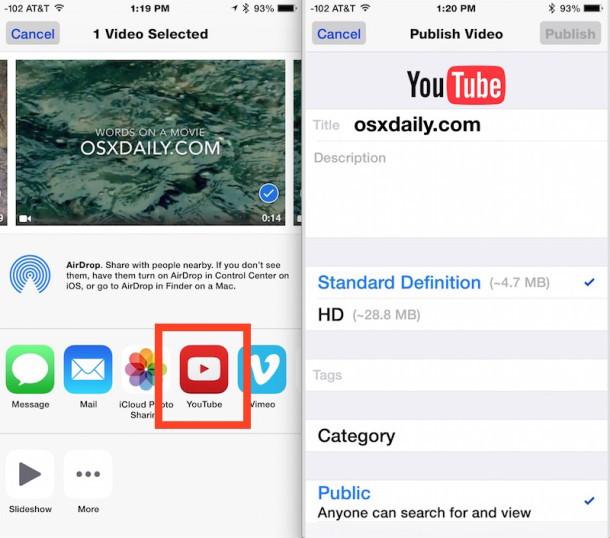 Carica un video su YouTube da iPhone e iOS