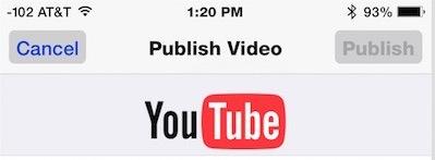 Pubblica un video direttamente su YouTube da iOS