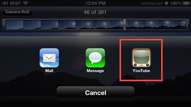 Carica un video direttamente su YouTube da iOS