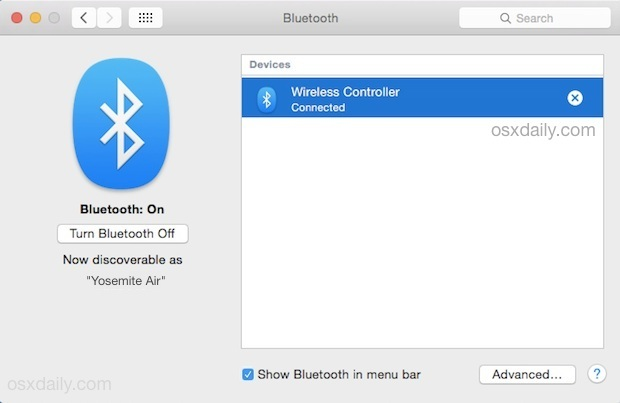 Controller per Playstation 4 in Mac OS X
