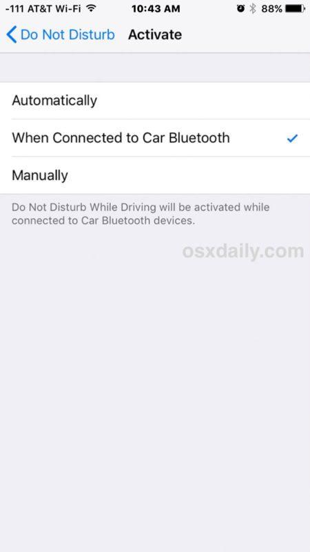 Abilita la funzione Non disturbare mentre guidi su iPhone