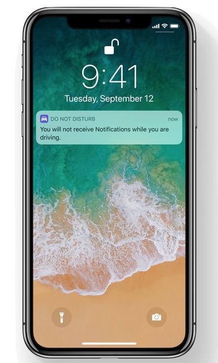 Non disturbare durante la guida Funzione attivata e attiva su iPhone