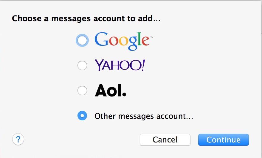 Aggiungi la chat di Facebook all'app Messaggi Mac